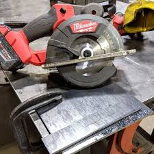 milwaukee m18 fuel metal cutting circular saw quarter inch steel plate
