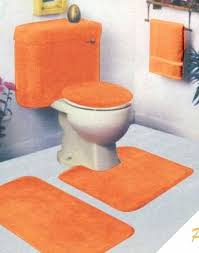 5 piece bath alluring orange bathroom rugs with orange 5 piece bathroom rug sets for striking