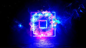 Neon flowers - graphics/3d live ...