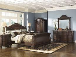 Bedroom Sets At Ashley Furniture Ashley Furniture North Shore Sleigh Bedroom Set In Dark Brown