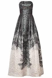 Theia Black Mixed Media Turtleneck Gown Size 2 F 9