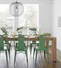 dining table and chairs light oak. green ming chairs and white oak big sur dining table light