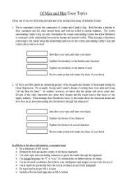 of mice and men character analysis five paragraph essay  of mice and men essay prompts document for teachers