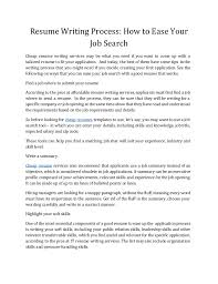 Affordable Resume Writing Services How To Write A Good Resume That Get Noticed