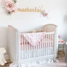 beautiful pink tulle crib skirt nursery