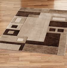 brown and beige area rugs