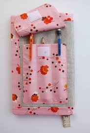 sketch book cover with pencil pocket free pattern and tutorial sew mama sew