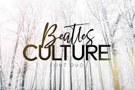 Beatles Culture Font Duo Script Fonts Creative Market Custom Dnload Georgeous The Beatles