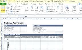 Mortgage Refinance Calculator Excel Home Mortgage Calculator Excel Spreadsheet Template 2007