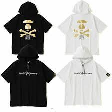 Aape Hoodie Size Chart A Bathing Ape Mens Aape S S Tee Hoodie Gold Foil 2colors Japan New Ebay