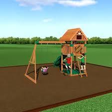 cedar wood swing sets montpelier all cedar wood playset swing set cedar summit lauian wooden swing