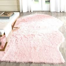 blush fur rug pink faux sheepskin rug handmade acrylic blush blush pink furry rug