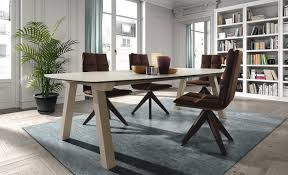 contemporary dining table wooden round