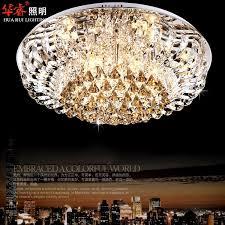 impressive ceiling crystal chandelier modern round crystal chandeliers fashionable flush mount ceiling