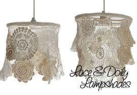 to make a ceiling pendant doily lamp shades