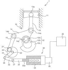 Patent us8087390 multi link variable pression ratio engine