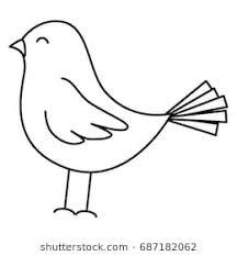 pictures of birds for drawing. Simple Birds Cute Bird Drawing Icon In Pictures Of Birds For Drawing Shutterstock