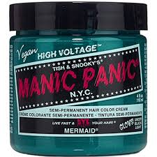 Manic Panic Blue Color Chart Mermaid Blue Manic Panic Vegan 4 Oz Hair Dye Color By
