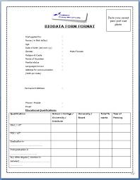 Biodata Format For Job In Word Download Biodata Format Under Fontanacountryinn Com