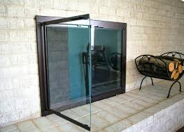 gas fireplace replacement glass majestic with door designs 16