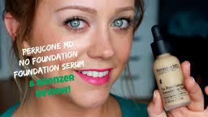perricone md no foundation foundation serum bronzer review demo
