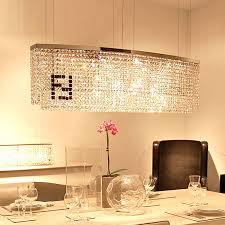stunning rectangular crystal chandelier dining room popular rectangular crystal chandelier rectangular