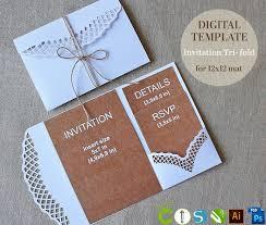 Diy Invitation Template Folding Wedding Invitations Templates Free Folded Invitation