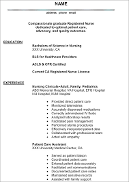 Example Of Nurse Resume Delectable Nursing Resume ProsSample Nursing Resume