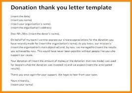 Fundraising Thank You Letter Templates Donor Donation Thank You Letter Thanks To Donations Examples