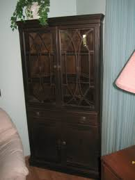 Kitchen Cabinet : Buffet Table With Glass Doors Black Dining Room ...