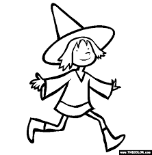 Small Picture Halloween Witch Outline Coloring Coloring Pages