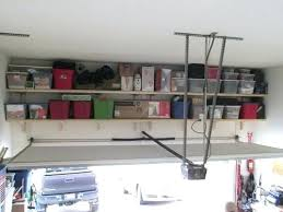 above garage door storage home depot diy solutions how to build shelves decorating inspiring i used your plans my doo