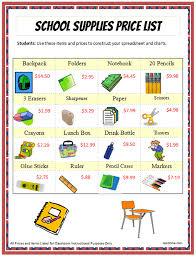 Excel School Supplies Expense Chart K 5 Computer Lab