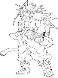 Small Picture Dragon Ball Z Goku Super Saiyan 4 Coloring Pages Printable of Goku