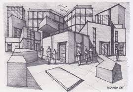 simple architecture design drawing. Incorporates A Few Different Perspectives, And Effective Use Of Simple Strokes Architecture Design Drawing R