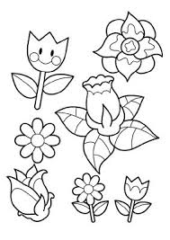 Small Picture Coloring Pages Flower Coloring Pages For Kids Spring Flowers