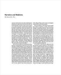 narrative writing samples medical narrative sample