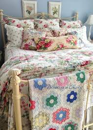 chintz decorating repurposed vintage style trends the thrifty decorator vintage style patchwork quilts vintage inspired bedding
