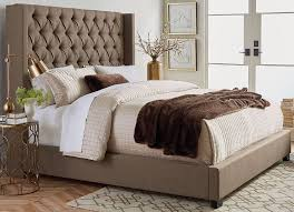 Westerly Brown Queen Upholstered Bed Set | The Furniture Mart