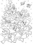 Раскраски новый год для подростков
