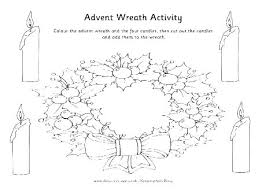 Printable Wreath Coloring Sheets Christmas Pages Advent Sheet Page