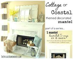 decorating a fireplace mantel cottage or coastal themed mantel decorating fireplace mantels with high ceilings