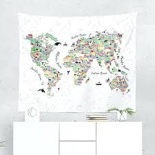 world map wall tapestry world map wall tapestry like this item world map grand canvas wall