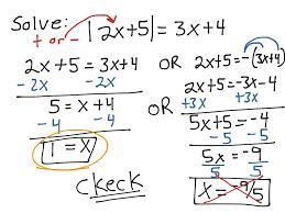 sec 1 5 4 solve absolute value equation extraneous math algebra 2 showme