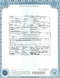 Certificate Of Birth Template Stunning Texas Birth Certificate Example Matkappco