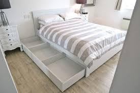 IKEA BRUSALI King Size Bed Frame with added Leirsund Slatted Bed Base