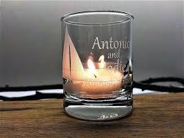 sea glass candle holder handmade sea glass candle holder beach wine glass candle holders
