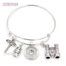10pcs lot whole snap jewelry telescope cing bracelet expandable adjule bangle snap on bracelets for