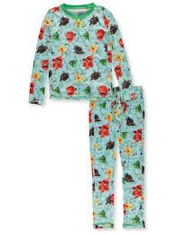 Cuddl Duds Boys Angry Birds 2 Piece Stretch Poly Long Underwear Set