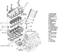 6 camshaft and cylinder head ponents 2 6l engine